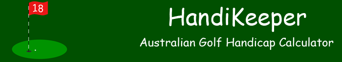 HandiKeeper Australian Golf Handicap Calculator
